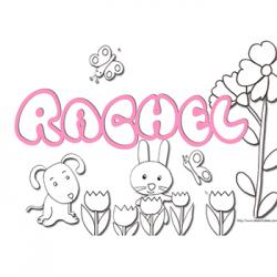Coloriage prénom Rachel