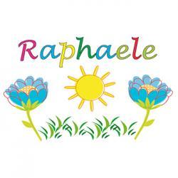Coloriage prénom Raphaële