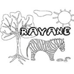 Rayane, coloriages Rayane