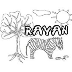 Rayan, coloriages Rayan