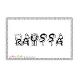 Rayssa, coloriages Rayssa