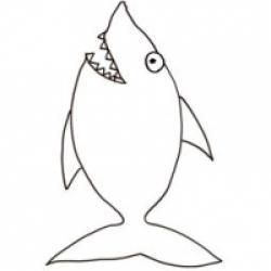 Coloriage d'un poisson d'avril : le requin !