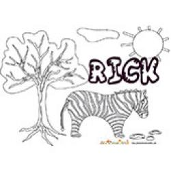 Rick, coloriages Rick