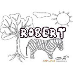 Robert, coloriages Robert
