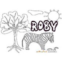 Roby, coloriages Roby