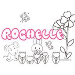 Rochelle, coloriages Rochelle