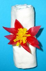 Fabriquer un rond de serviette fleur