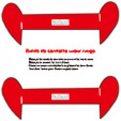 Deux ronds de serviette coeurs rouges à imprimer