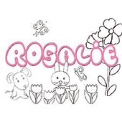 Rosalie, coloriages Rosalie