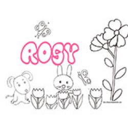 Rosy, coloriages Rosy