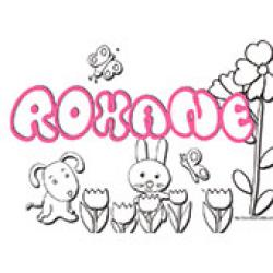 Roxane, coloriages Roxane
