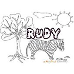 Rudy, coloriages Rudy