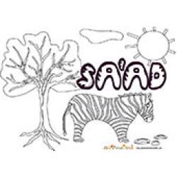 Saad, coloriages Saad