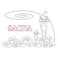 Sacha, coloriages Sacha