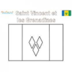 Coloriage drapeau de Saint Vincent et les Grenadines