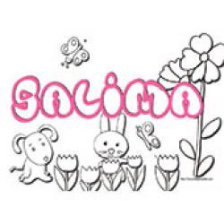 Salima, coloriages Salima