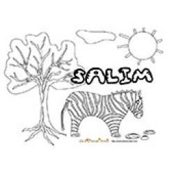 Salim, coloriages Salim