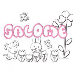coloriage prénom salomé