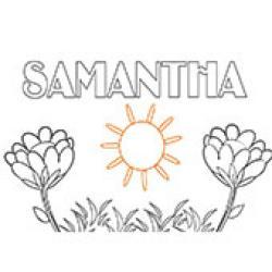 Samantha, coloriages Samantha