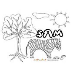 Sam, coloriages Sam