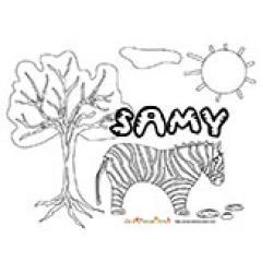 Samy, coloriages Samy