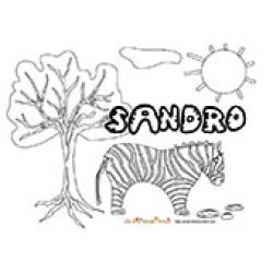 Sandro, coloriages Sandro