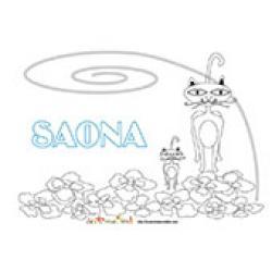 Saona, coloriages Saona