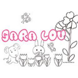 Sara Lou, coloriages Sara Lou