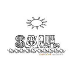 Saul, coloriages Saul
