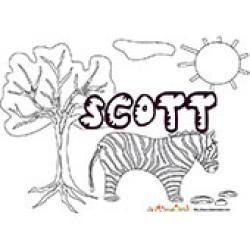 Scott, coloriages Scott