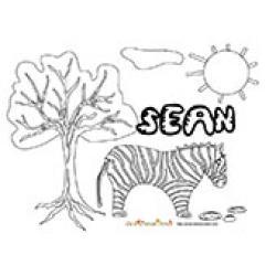 Sean, coloriages Sean