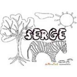 Serge, coloriages Serge
