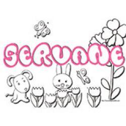 Servane, coloriages Servane