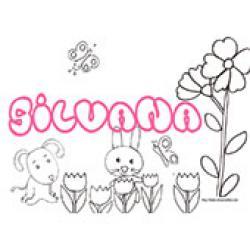 Silvana, coloriages Silvana