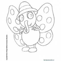 Coloriage Siméon le Papillon