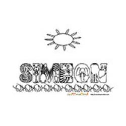 Simeon, coloriages Simeon