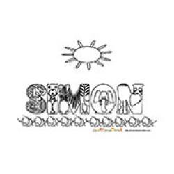Simon, coloriages Simon