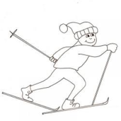 dessin 'un skieur