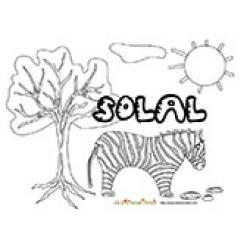 Solal, coloriages Solal