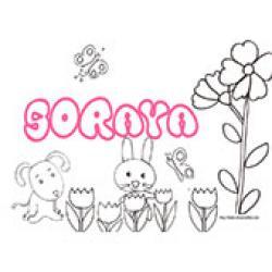 Soraya, coloriages Soraya
