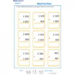 exercice 2 sur les soustractions niveau2 cycle 3