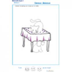 exercice 1 dessus dessous la table