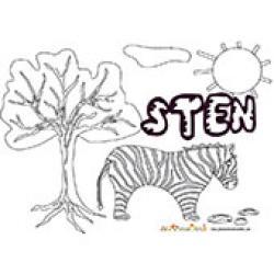 Sten, coloriages Sten
