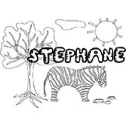 Stephane, coloriages Stephane