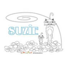 Suzie, coloriages Suzie