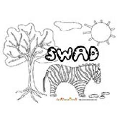 Swad, coloriages Swad