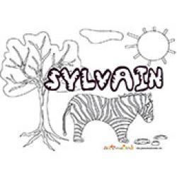Sylvain, coloriages Sylvain