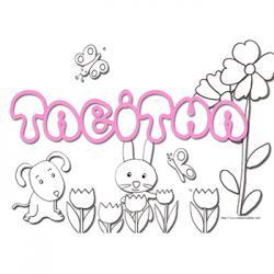 Coloriage prénom Tabitha