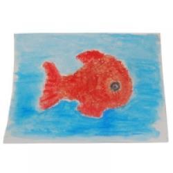 tableau poisson rouge