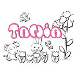 Tania, coloriages Tania